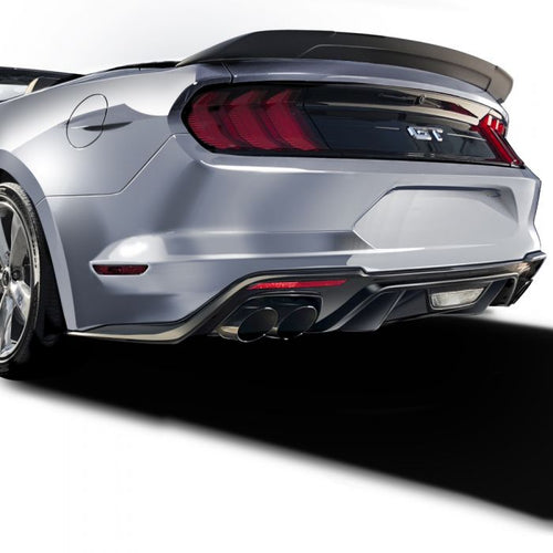 Ford Mustang 2018+ AIR DESIGN Rear Valance Diffuser (Ecoboost) - Satin Black