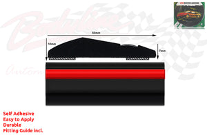 BM3-Style 50mm 6 Metre RED & BLACK ROLL Wheel Arch Bumper Insert Moulding Striping for Car Boat Trim