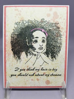 Dream Big Thoughtful Child Single Greeting Card