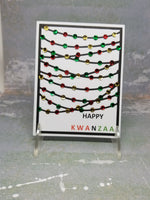 3 Piece Happy Kwanzaa Bistro Lights Greeting Card Set