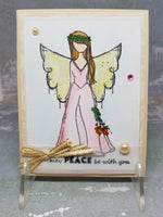 3 Piece Water Color Angel Holiday Greeting Card Set