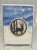 3 Piece Winter Forrest Scene Greeting Card Set