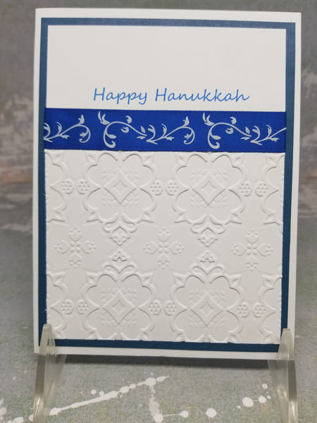 3 Piece Happy Hanukkah Embossed Greeting Card Set