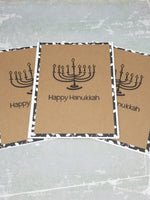 3 Piece Happy Hanukkah Menorah Greeting Cards