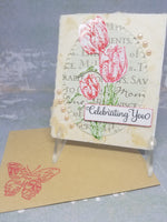Elegant Red Tulip Mothers Day Card