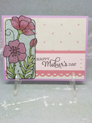 Single Glittering Mother's Day Card