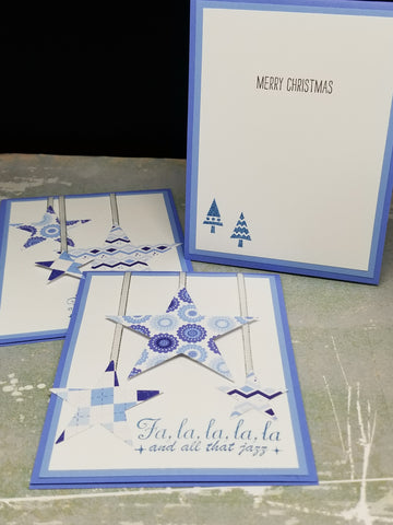 3 Piece Sassy Star Holiday Card Set