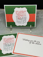 3 Piece Holiday Happy Non Religious Greeting Card Set