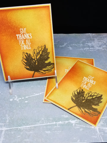 3 Piece Thanksgiving Fall Maple Leaf Greetings