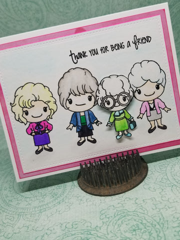 Thank You For Being a Friend - Golden Girls Single Greeting Card