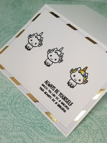 Be A Unicorn Single Greeting Card