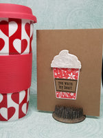 Single Coffee Themed Gift Card Holder