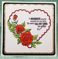 One of a Kind Heart and Roses Valentine's Day Card