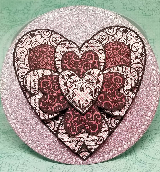 One of a Kind Bursting Heart Valentine's Card