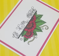 Single Eid al Fitr Mabrouk Floral Paisley Greeting Card