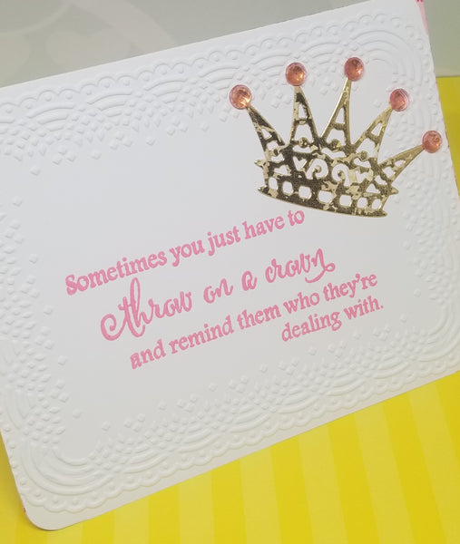 3 Piece Greeting Card Set Throw on a Crown