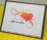 Single Greeting Card Love Is A Fire