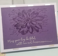 Single Purple Chrysanthemum Mothers Day Card