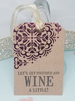 Single Wine A Little Wine Bottle Gift Tag