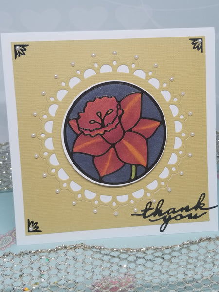 Single Day Lily Thank You Card