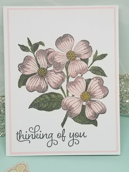 Single Thinking of You Floral Greeting Card
