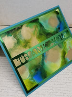 Single Alcohol Ink Abstract Thank You Card