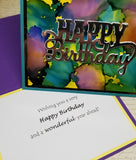 Single Happy Birthday Abstract Greeting Card