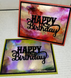 Single Masculine Happy Birthday Greeting Card
