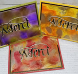 Single Merci French Thank You Card