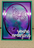Single You're Amazing Butterfly Greeting Card