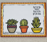 Single Succulent Encouragement Greeting Card