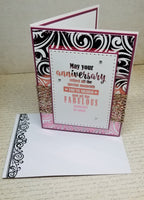 Single Blush Foiled Anniversary Card