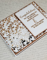 Single Gold Foil Elegant Wedding Card
