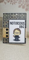 Single RBG Ruth Bader Ginsberg Greeting Card