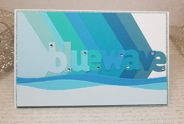 Single Blue Wave Greeting Card