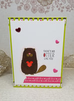 Single Otter Love Let's Cuddle Greetong Card