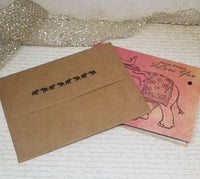 3 Piece Indian Elephant Love Greeting Card Set
