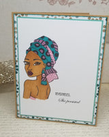 Single Nevertheless She Persisted African Hijabi Greeting Card