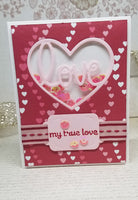 Single My True Love Heart Shaker Card