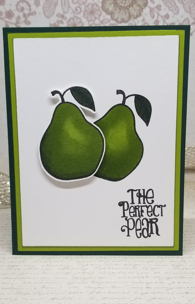 Single Pear Themed Romantic Greeting Card