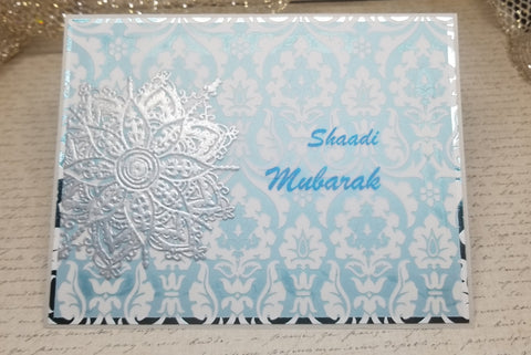 Single Shaadi Mubarak Indian Wedding Card