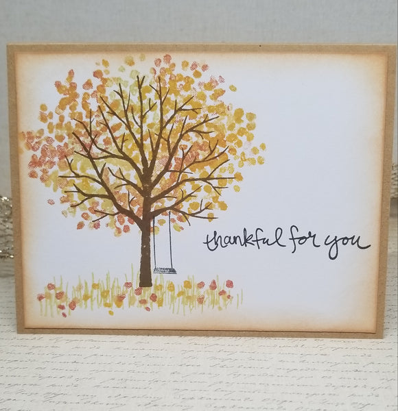 4 Piece Autumn Thankful For You Card Set