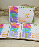 4 Piece Live Colorfully Note Card Set
