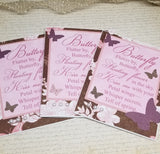 3 Piece Butterfly Lovers Note Card Set