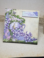 Single Spring Rain Lilac Umbrella Greeting Card