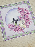 Single Pink Lilac Praying for You Card
