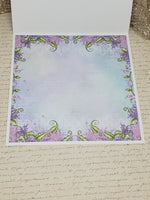 Single Country Cottage Lilac Card