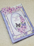 Single Tri-Fold Praying For You Lilac Card