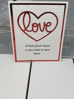 Single Pet Paws Love Greeting Card