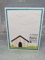 Single Dog House Greeting Card